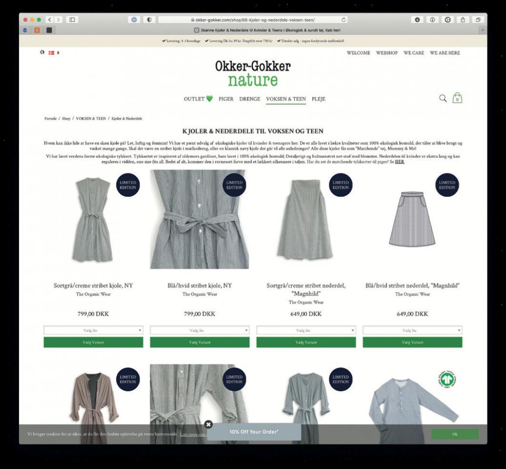 Bornholmsk børnetøj er GOTS for miljøet
